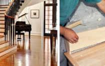 Облицовка лестниц из бетона деревом; фото и видео уроки