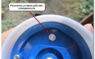 Как подключить фотореле для уличного освещения: схема