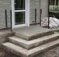 Крыльцо из бетона; как сделать от А до Я