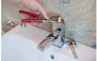 Ремонт крана смесителя для ванной