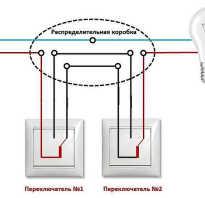 Принцип работы проходных и перекрестных переключателей