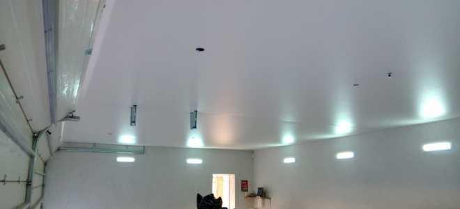 Ремонт потолка в гараже: фото, своими руками
