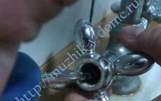 Замена кран-буксы в двухвентильном смесителе; пошаговая инструкция