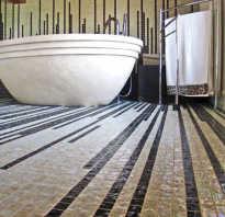Напольная плитка мозаика – виды и способы укладки