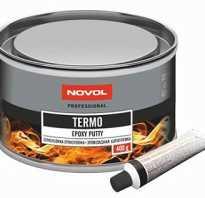 NOVOL Termo Шпатлевка эпоксидная для порошковой окраски высокотемпературная, 0,4 кг