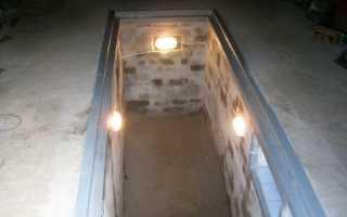 Освещение смотровой ямы в гараже