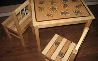 Как раскрасить стол из дерева: как перекрасить старый лакированный столик и другие, видео и фото