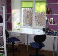 20 идей для встроенного стола-подоконника в детской