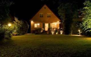 Как сделать эффективное освещение во дворе: видео инструкция и 105 фото особенностей уличного освещения участка