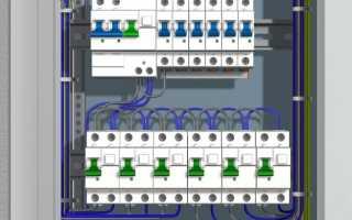 Схема электрического квартирного щитка; однофазный вариант